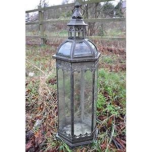 Antique Style Metal Garden Lantern Garden Outdoors
