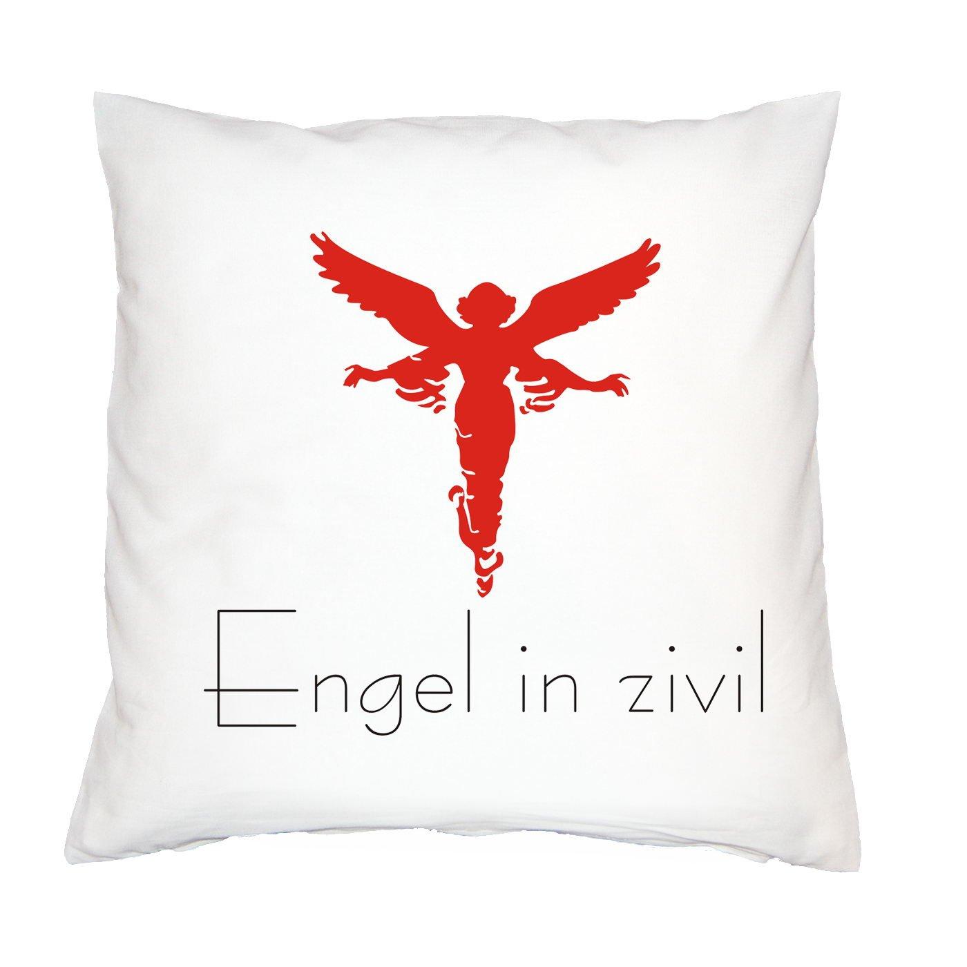 Lustiger Sofakissen mit Füllung: Engel in zivil! (Kissenfarbe: Weiss) günstig bestellen