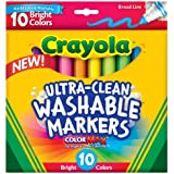 Crayola  Ultraclean Broadline Bright Markers (10 Count)