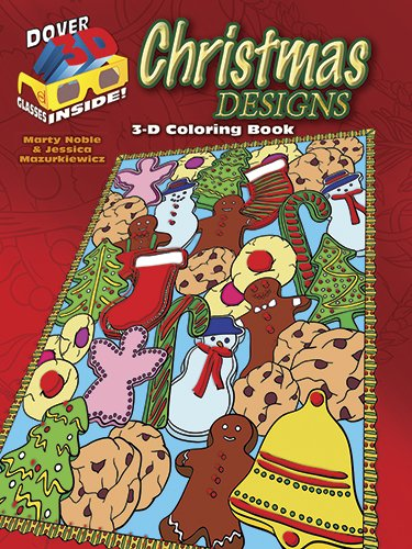 3-D Coloring Book - Christmas Designs (Dover 3-D Coloring Book)
