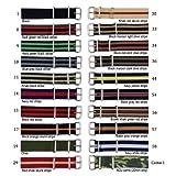 61kVtzHxIhL. SL160  18mm Military James Bond Style Nylon Watch Strap Band   20 Colors Style: 34 Black red khaki