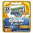 Gillette Fusion ProGlide Power Rasierklingen, 4 St�ck