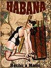 CUBAN Cigar PINUP GIRL Vintage MAP HAVANA Cuba TOBACCO Print ART Poster - measures 24 high x 18 wide (610mm high x 458mm wide)