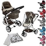 TecTake 3 en 1 Sillas de paseo coches carritos para bebes convertible - disponible en diferentes colores - (Marr�n | no. 401070)