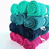 """ACACIA BABY 12 Pack of Bamboo Cloth Baby Wipes & Washcloths, Reusable 10""""x10"""" Cloths, Gender-Neutral Colors, Perfect for Girl or Boy Shower or Registry Gift"""