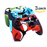 BRH Cool Silicone Protector Cover Case Anti-slip Soft Comfort for Xbox 360 Controller Skin Camo (3 Colors Package)