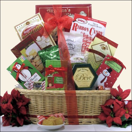 Tidings of Joy Medium Christmas Holiday Gourmet Gift Basket