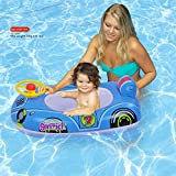 Ginzick Babies Kids Swimming Inflatable Car Float with Leg Holes (Colors Vary)