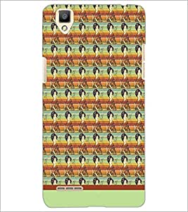 PrintDhaba Pattern D-1568 Back Case Cover for OPPO F1 (Multi-Coloured)