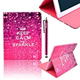 DEENOR Retro design Custodia in pelle Borsa Smart Cover Case per Apple iPad Air 2 iPad 6 + Omaggio Toccando penna...