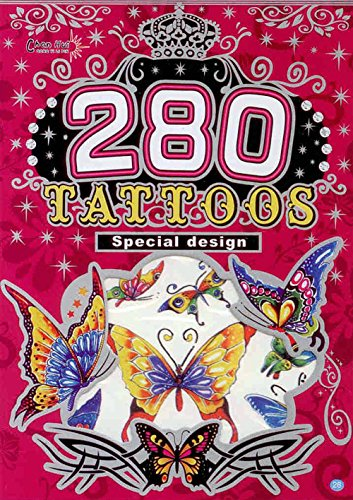 280 Temporary Tattoos - Butterflies Style 28 - 1
