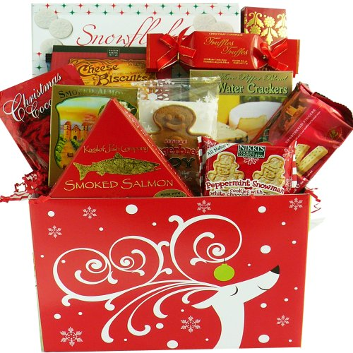 Dashingly Delicious Christmas Holiday Gift Box - Gourmet Food Gift Basket