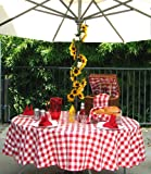 Polyester Gingham Umbrella Table Cloth, 50