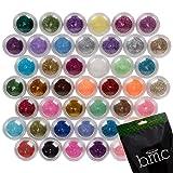 BMC 45pc Mixed Color Design Shapes Nail Polish Art Shinny Sparkle Glitters Set - Best Reviews Guide