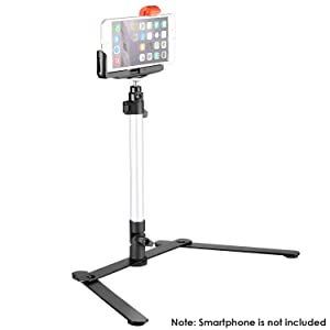 Neewer 24x24 inches Tabletop Photography Lightbox Light Tent Lighting Kit with LED Light, Color Backdrops, Gel Filters, Stand with Cellphone Clip for iPhone X 8 7 6 6S Samsung Galaxy S8 S7 etc