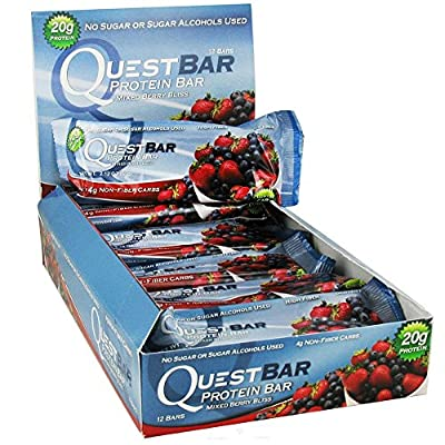 Quest Protein Bars Mixed Berry Bliss 14 Bars