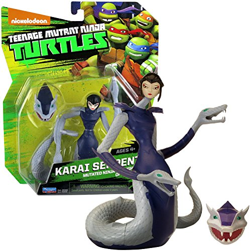 Playmates Year 2014 Teenage Mutant Ninja Turtles TMNT 4-1/2 Inch Tall Figure - Mutated Ninja and Daughter of Splinter KARAI SERPENT with Removable Snake Head