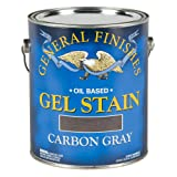 General Finishes Oil Base Gel Stain, 1 Gallon, Carbon Gray (Color: Carbon Gray, Tamaño: 1 Gallon)