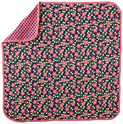 Offspring - Baby Apparel Girls Newborn Blossoms 2 Ply Blanket, Navy Multi, One Size