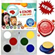 Face Painting Kit For Any Event by Weebumz - Paint 60 Full Faces - Vegan, 6 Vibrant, Most Popular Colors & 1 Brush - Safe, Water-Based, Quality Face Paint. Non-Toxic Palette + Bonus Ebook