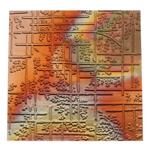 lillypilly-copper-sheet-metal-bamboo-embossed-flamed-patina-36-gauge-3x3-in