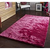 Sable Pink - 150 x 230cm Made From 100% Viscose Hand Tufted Shaggy Super Soft Polyester Rug