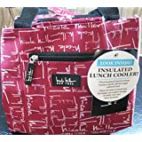 "Nicole Miller of New York Insulated Lunch Cooler- Pink 11"" Lunch Tote"