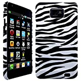CellBig Zebra Hard Back Case Cover Pouch Mask Wallet Holster for Samsung Galaxy S2 i9100