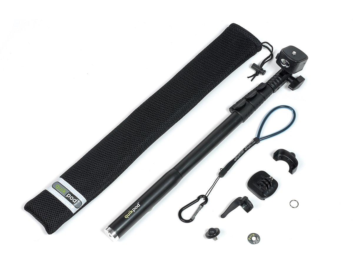 Quick-Pod Pole / Teleskopstange mit Tasche und Zubehör