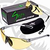 NEW! REACTOR - Photochromic Safety Glasses UV400 Z87.1 OSHA Compliant - Transitions From High Contrast Yellow to Dark Green (Color: Gray, Tamaño: Medium)