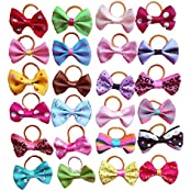 Generic Pet Dog Hair Bows With Rubber Bands Cat Puppy Grooming Hair Accessories Pack Of 50