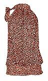Women's Ladies Leopard Print Tie Neck Sleeveless Gathered Waist Textured Chiffon Top...