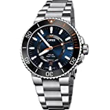 Oris Aquis Date STAGHORN RESTORATION LIMITED EDITION Mens Stainless Steel Automatic Diver Watch - 43mm Blue Face Analog Swiss Luxury Waterproof Dive Watch For Men 01 735 7734 4185-Set MB (Color: Blue)