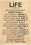 Mother Teresa Life Quote Poster 13 x 19in