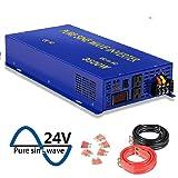 XYZ INVT Pure Sine Wave Power Inverter 3500W / 7000W (Peak) Car Caravan RV Camping Boat DC 12V Inverter Soft Start 24V DC to AC 110V DC Inverter Converter with LCD Display (Tamaño: 3500w 24v)