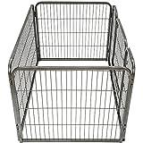 TecTake Welpenlaufstall Tierlaufstall Freigehege Hunde Laufstall rechteckig   Größe (LxBxH): ca. 125 x 85 x 70 cm -