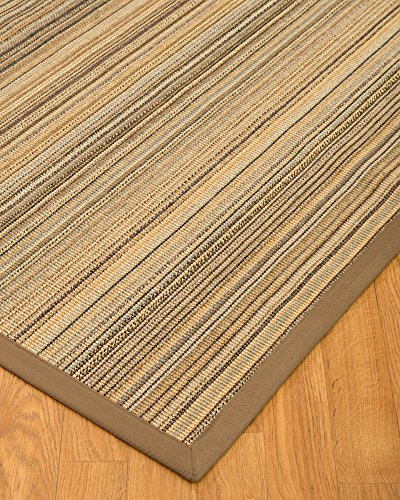 NaturalAreaRugs Natural Fiber Galena Sisal Rug with Wide Canvas Border, 4' by 6'