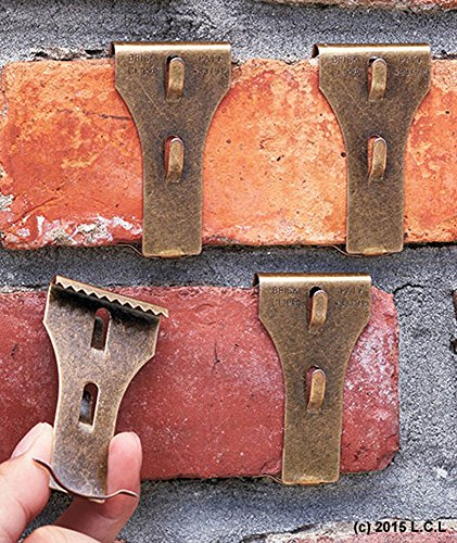 Set 4 Brick Clip Fastener Hangers Hanging Decoration Brick Wall Fireplace Hooks (Brick Hanger Clips compare prices)