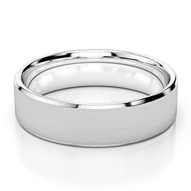 White Gold / Platinum Mens Plain Band 5mm AGDR-1248
