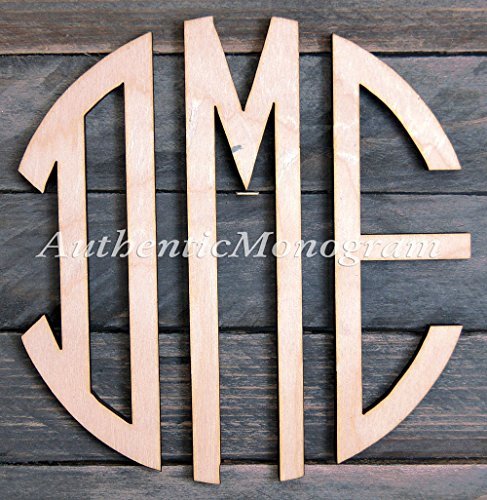 "Large Wooden Circle Script Painted Monogram, Home Decor, Wedding, Initials Monogram, Hanging, Love, Guarden, Wallhanging (12"") front-1035840"
