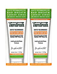 TheraBreath Dentist Recommended Fresh Breath Dry Mouth Toothpaste, Mild Mint