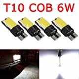 OUBAO 4PCS T10 COB 6W W5W 194 168 LED Canbus Error Free Side Wedge Light Lamp Bulb (Tamaño: 1.1 inch)