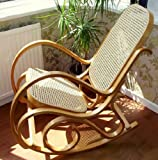 NEW BENTWOOD ROCKING CHAIR BIRCH WOOD & RATTAN THONET LIVING BED ROOM CONSERVATORY MATERNITY