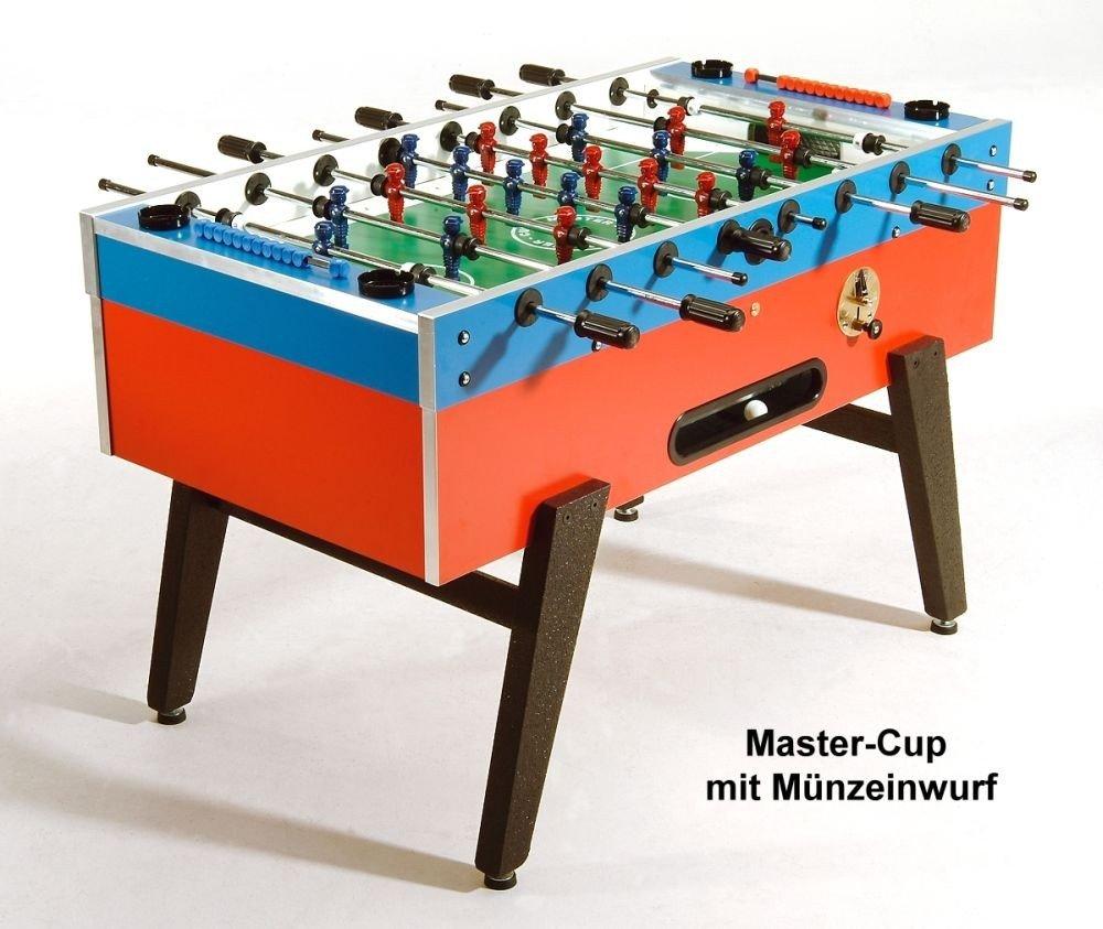 Fußballkicker Master-Cup mit Münzeinwurf und optionaler Glasabdeckung günstig online kaufen