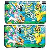 PIKACHU C for NEW 3DS XL Skin, Nintendo Vinyl Skin Decal Sticker + Screen Protectors