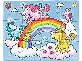 Puzzles-de-12--18-pices-3-puzzles-Licornes-dans-les-nuages