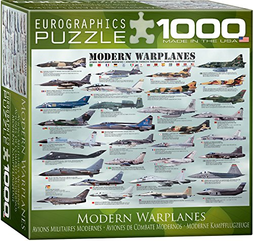 EuroGraphics Modern Warplanes Puzzle (Small Box) (1000-Piece) (1000 Piece Airplane Puzzle compare prices)