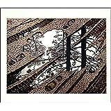 "Puddle by M.C. Escher 21.75""x25.625"" Art Print Poster"