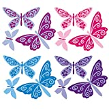 Wallies 13643 Flutterbyes Peel and Stick Vinyl Decal