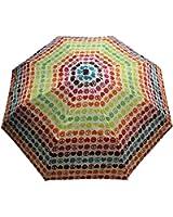 Totes Ladies Signature Basic Automatic Compact Umbrella,one size,Peace and Love design